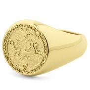 Kultainen metsästäjän jälkeläiset -sinettisormus, 925-hopeaa