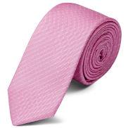 Pink Polka Dot Silk 6cm Necktie