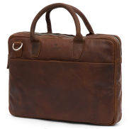 Borsa Executive Montreal in pelle marrone chiaro per notebook da 13
