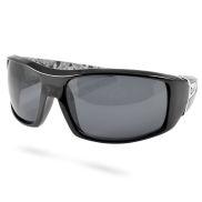 Lesklé černé sluneční brýle Locs