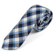 Corbata de lana a cuadros escoceses azules