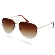 Преливащи авиаторски слънчеви очила в кафяво