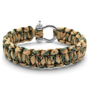 Green and Tan Paracord Bracelet