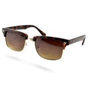 Klassische Vintage Sonnenbrille In Braun & Gold