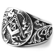 Steel Ivy Leaf Ring