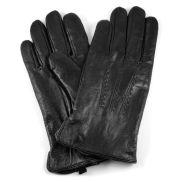 Černé kožené rukavice Rala