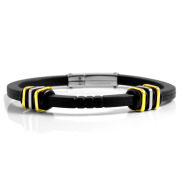 Rubber Bracelet With Steel Accents