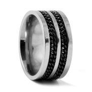 Double Chain Titanium Ring