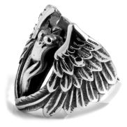 Headless Angel On A Cross Steel Ring