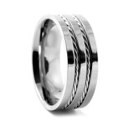 Double Wire Titanium Ring