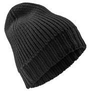 Gorro de lana de merino negro Keenan