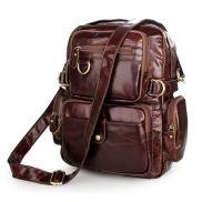 Wielofunkcyjny jasnobrązowy plecak ze skóry w stylu vintage