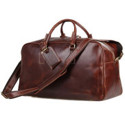 Marion Maroon Weekend Leather Case