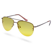 Ruskea & keltainen Aviator-aurinkolasit