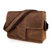 Scuffed Brown Leather Satchel