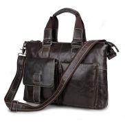 Coffee Leather Work Bag