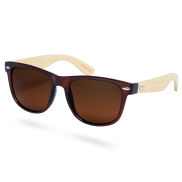 Brown Bamboo Wood Sunglasses
