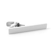 Short White Tie Clip