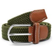 Elastischer Gürtel in Militärgrün