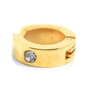 Gouden Zirconia Clip-On Oorbel