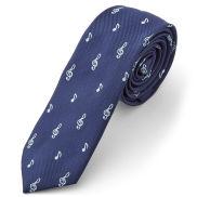Cravatta blu musicale