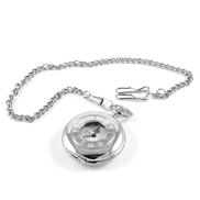 Silver-Toned Quartz Pocket Watch