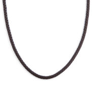 Collier en cuir marron tressé 5mm