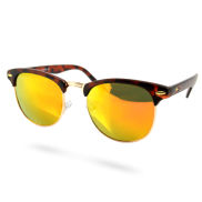 Farbenfrohe Vintage Sonnenbrille In Braun & Orange