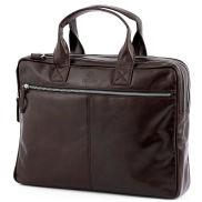 Тъмнокафява чанта за лаптоп Jasper с два ципа