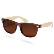 Helt Brune Polariserede Solbriller i Bambus