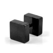 Schwarzer Quadrat Ohrstecker 8mm