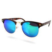 Ruskea/sininen vintage aurinkolasit