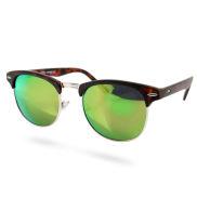 Braun Grüne Vintage Sonnenbrille