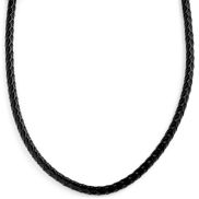 5mm Black Woven Leather necklace