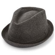 Harmaa trilby-hattu