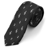 Black Musical Necktie