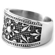 Stalen Fleur-De-Lis Ring
