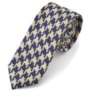 Blue and Cream Tessellating Tie