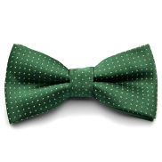 Green Dotted Bow Tie