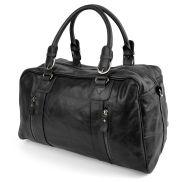 Matan Black Weekend/Sports Leather Bag