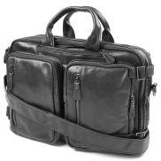 3 in 1 Black Delton Leather Bag