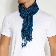 Blauwe Kleurrijke Sjaal