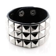 Brede Vierkante Klinknagel Armband