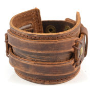 Brown Rawhide Leather Bracelet