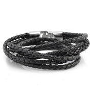 Casual Bolo Braided Leather Bracelet