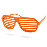 Orange Shutter Shades Briller