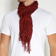 Sjaal in Rood, Zwart en Zilverkleur