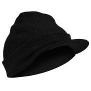 Черна плетена шапка с козирка