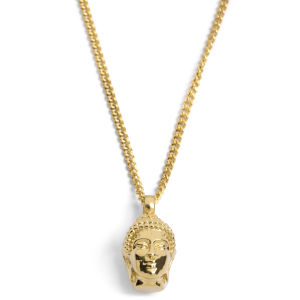 Collar de acero con Buda dorado