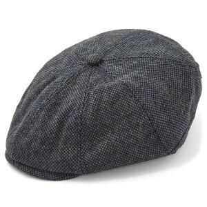 Gorra plana gris